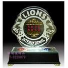 A50-91-03 獅子會水晶LED獎座×1個 (水晶獎座 琉璃藝品 水晶文鎮) [詔暘禮贈品]