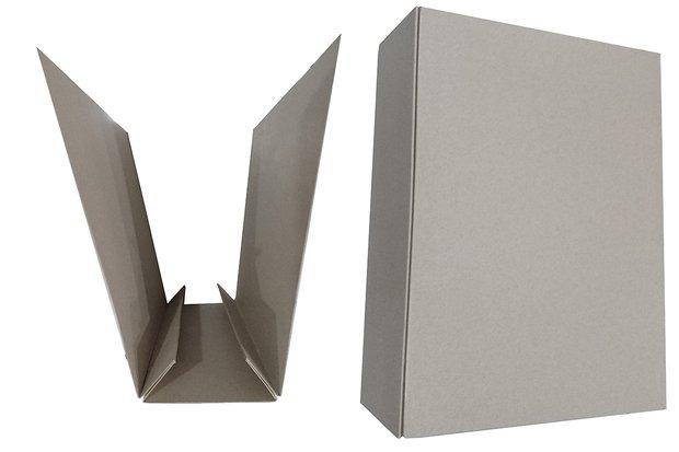 傳票封面夾-素面468磅環保紙板-立體圖