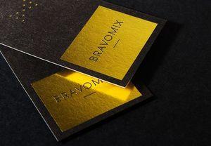 黑卡燙黃金色