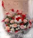 荷蘭波霸玫瑰 11朵進口花卉