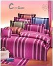 【Z】曲線夢境T-073(紫、藍)雙人五件式床罩組5*6.2尺