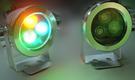 安全低壓12V/3*1W/LED水底燈/橙藍綠/三色/防水/水池燈/景觀燈/噴泉燈