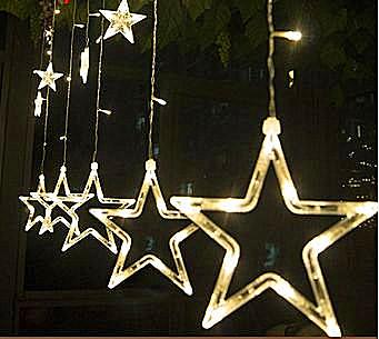 星星灯举牌照素材空白图片