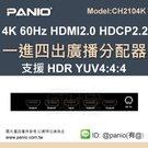 《✤PANIO國瑭資訊》4K 2進8出影音切換分配器3D功能