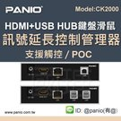HDMI USB鍵盤滑鼠電腦CAT5E/6延長管理器120米(型號CK1010)