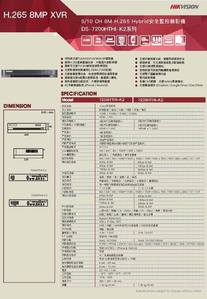 8路TVI Hybrid 網路數位監控錄影主機【SY-DS7208HTHI-K2】