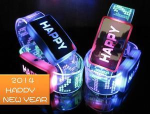 2014  LED HAPPY NEW YEAR 開心發光手環