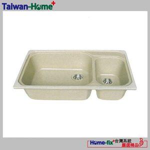 [Home-fix+台灣系統]YUNGYUIN人造石水槽HDB012-S890-N無限服務