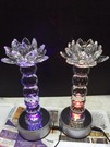 LED 水晶蓮花燈