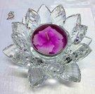 客製化 水晶蓮花燭台 製造。中間可以放蠟燭,也不怕高溫狀況唷