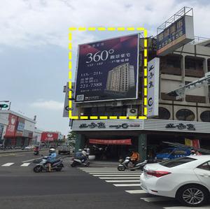 台南-西門路三段VS民德路口 -戶外廣告看板 出租