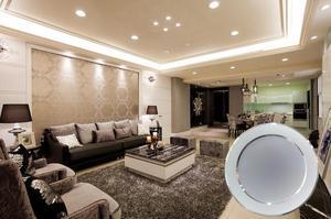 3吋 6W 三極光型崁燈 分色溫 一燈三色( 白 黃 自然光)