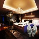 4W E17水晶蠟燭燈 黃/白光