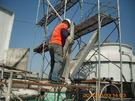 圓形冷卻水塔 颱風吹垮 維修扶正工程_ 自由時報 大樓水塔