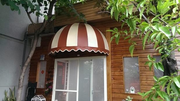 球型 造型遮雨棚、遮雨蓬-固定式