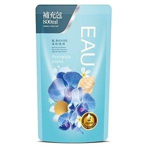 EAU 耀.香水沐浴乳-海島風情補充包800ml