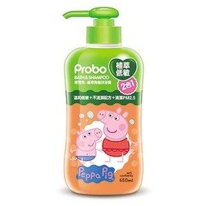 【博寶兒】植萃低敏洗髮沐浴二合一 650ml-佩佩豬