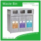 (TH3-90S)不銹鋼三分類資源回收桶