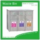 (TH3-90SAR)不銹鋼三分類資源回收桶