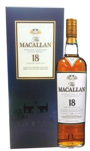 麥卡倫雪莉桶 18年 單一麥芽威士忌 錦盒