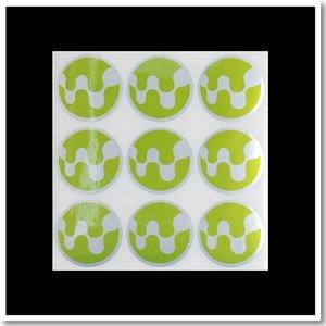 WestLab反銀龍圓形封口貼