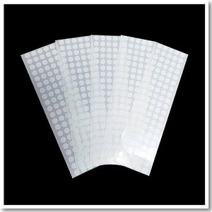 高黏合成貼紙(亮)-空白小圓貼紙(1.34公分正圓)