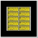 黃色電池充電警告貼紙